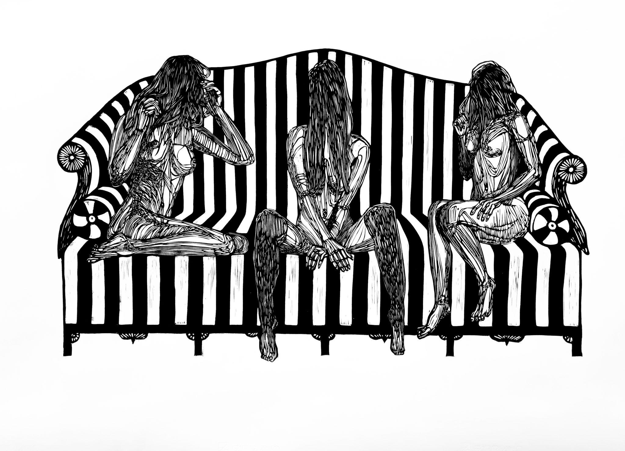 Linoryt Gracje na kanapie o wymiarach 100x70 cm
