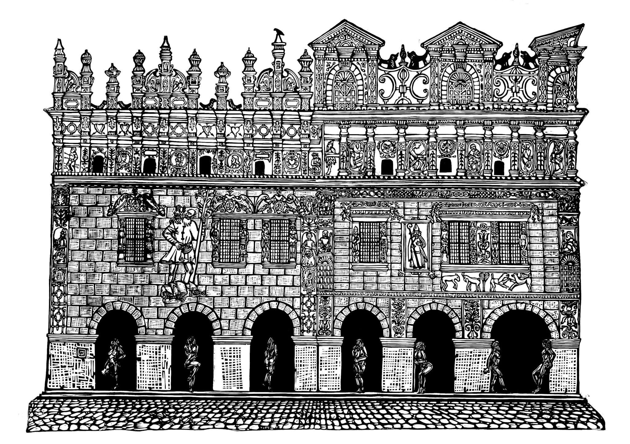Linoryt Gracje w Kazimierzu Dolnym nad Wisłą o wymiarach 100x70 cm