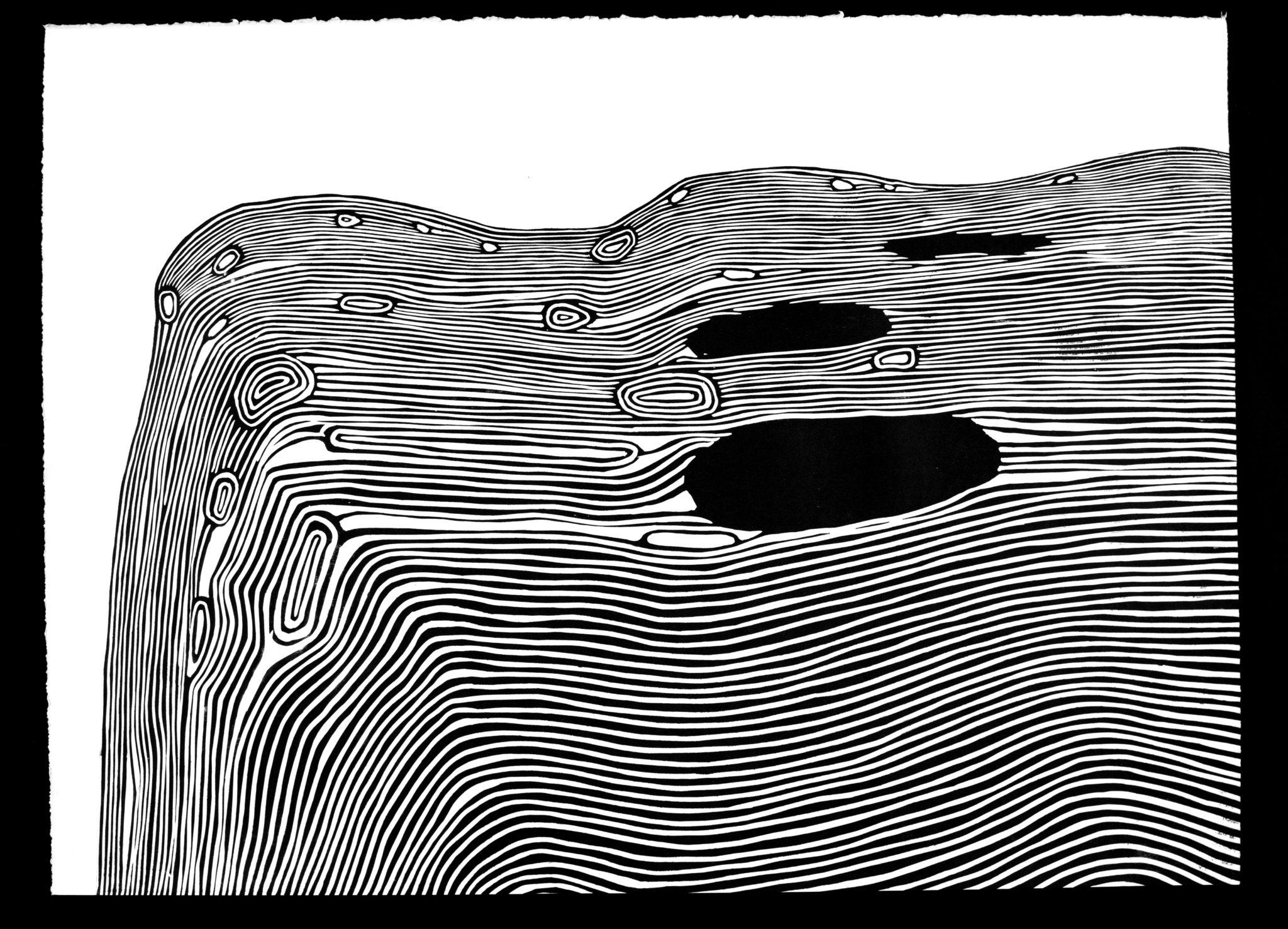 Linoryt Pejzaż 6 o wymiarach 100x70 cm